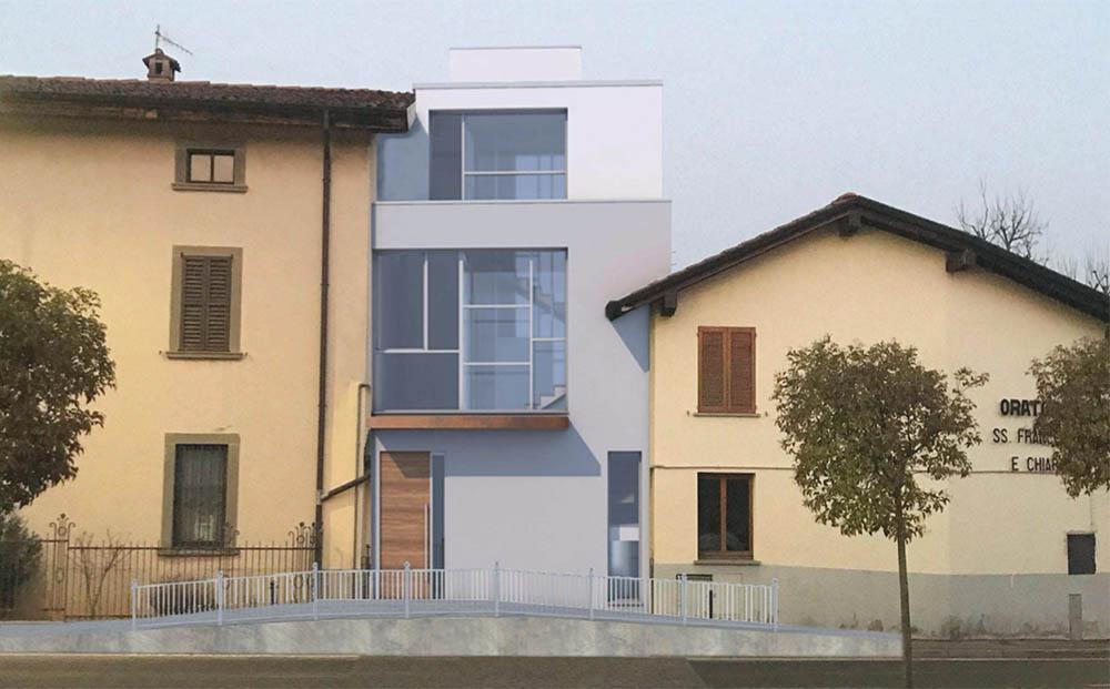 Il progetto della nuova casa parrocchiale di Barzana